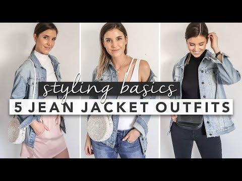 Styling Basics: 5 Ways to Wear a Jean Jacket   by Erin Elizabeth