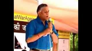 General (Retd) V.K. Singh speaks at Jantar Mantar