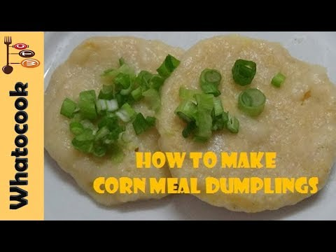 How To Make Trinidad Corn🌽 Meal Dumplings