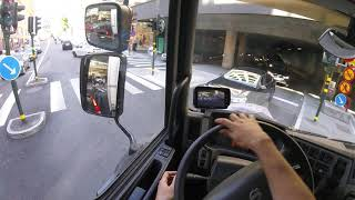 Volvo FL - City Truck driving, GoPro headmount POV. July 2016