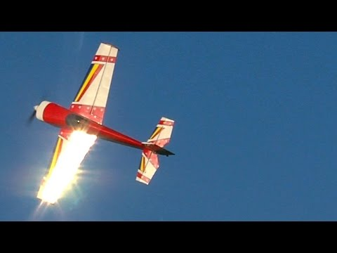 "AJ-Aircraft 73"" Laser 230z flown by 12 year old Benjamin Mackles"