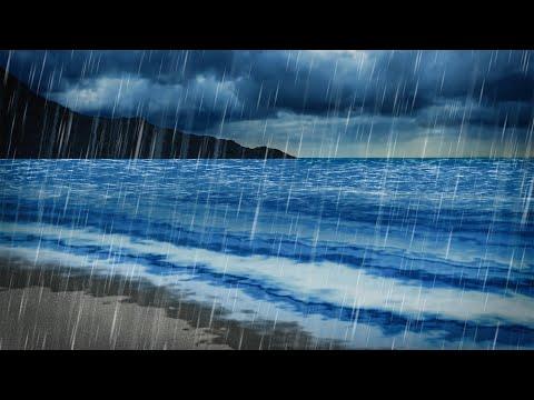 Rain & Ocean Sounds | Sleep, Study, Focus | 10 Hours White Noise