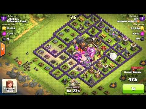 Clash of Clans Balloon + Minion + Rage Attack RIP 3 Star 100% Win