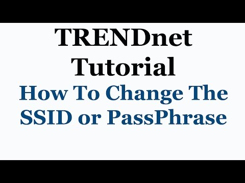 TRENDnet Access Point Tutorial - How To Change The SSID Or Pass-phrase