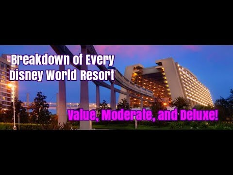 A Breakdown of Every Disney World Resort Hotel