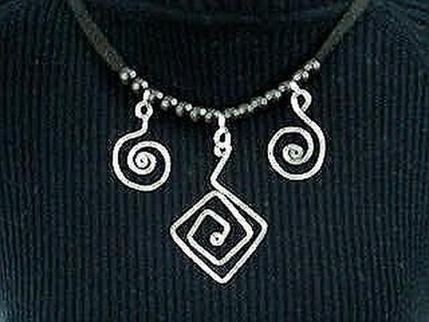 DIY WIRE SCROLL CHARMS OR PENDANTS, for necklaces, bracelets, earrings,  jewelry making