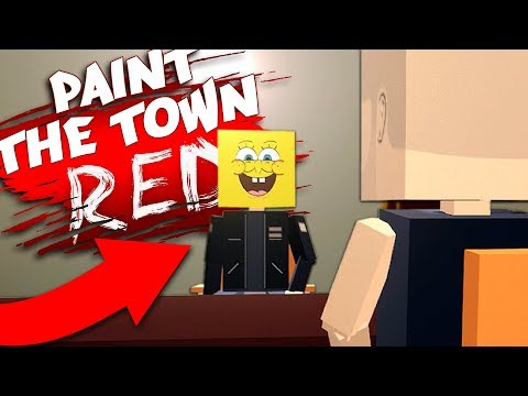 SPONGEBOB IS THE BIKER BOSS?! - Another NEW Character! - Paint The Town Red Gameplay
