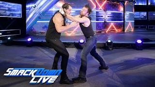 Baron Corbin attacks Dean Ambrose: SmackDown LIVE, Feb. 14, 2017