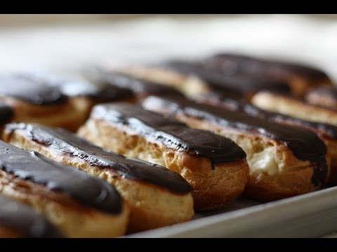 Chocolate eclairs recipe and home demonstration