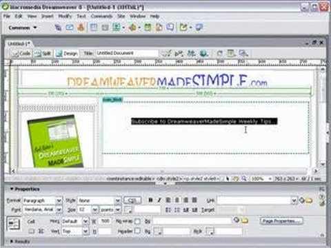 Dreamweaver Tutorial - Cant change font size in dreamweaver