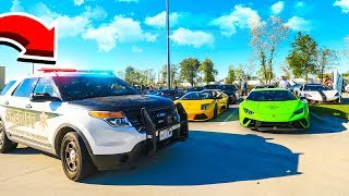 COPS PULL OVER 100 SUPERCARS FOR RACING...