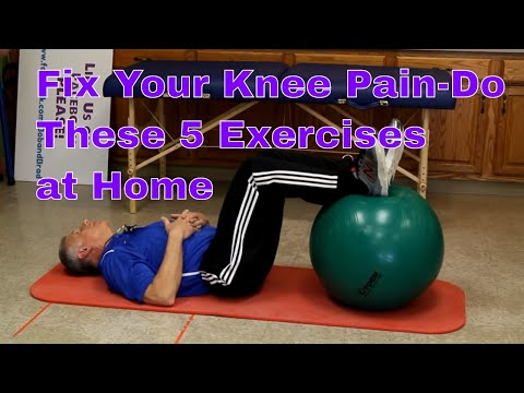 Fix Your Knee Pain- Do These 5 Exercises At Home