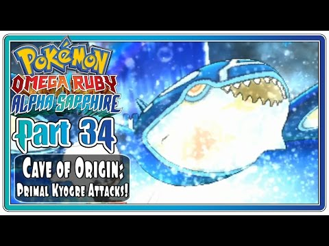 Pokemon Omega Ruby and Alpha Sapphire - Part 34: Cave of Origin | Primal Kyogre Attacks!  (FaceCam)
