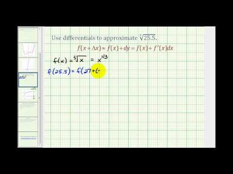 Ex:  Using Differentials to Approximate the Value of a Cube Root.