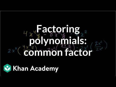 Example 4: Factor a polynomial with two variables by taking a common factor | Khan Academy