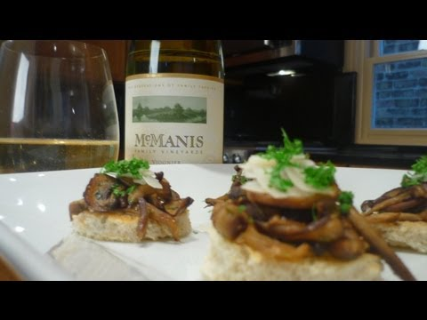 Wild Mushrooms with Truffle Butter Sourdough paired with McManis Viogner