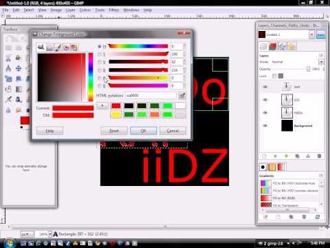How To Make A Logo On GIMP