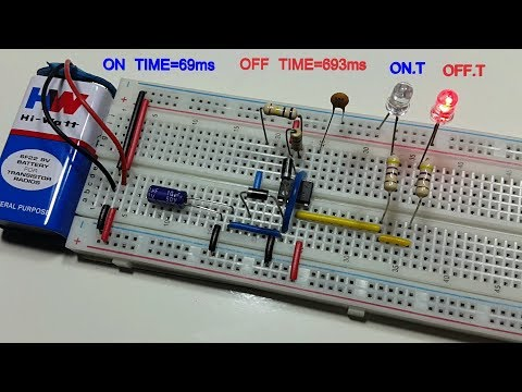 Astable multivibrator type -2 on time 50% off time 50% variable using 555 timer - in Tamil & English