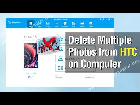 How to Delete Multiple Photos from HTC Phone on Computer