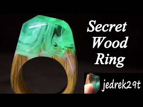 How to make real Secret Wood Ring. Tutorial. Step by step.