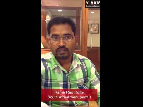 Y-Axis Review| Rama Rao Testimonials On His South Africa Work Permit.