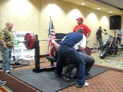 Real PN user benches 455lbs....from Midwest Iron's Power Bash 2011