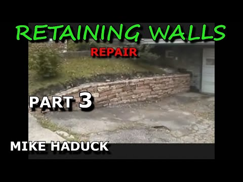 How I build a small stone wall (part 3 of 6) Mike Haduck