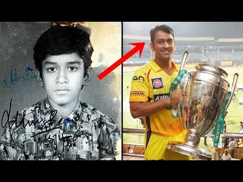 Ms Dhoni - Transformation From Childhood to Ipl 2018 Final..