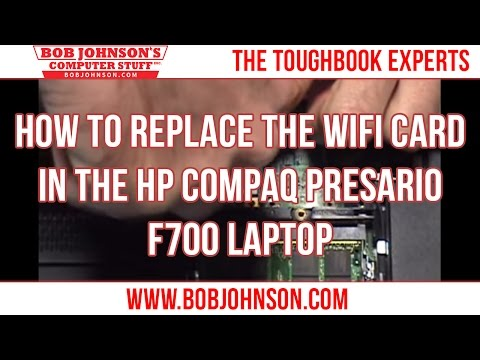 How to replace the WIFI card in the HP Compaq Presario F700 Laptop