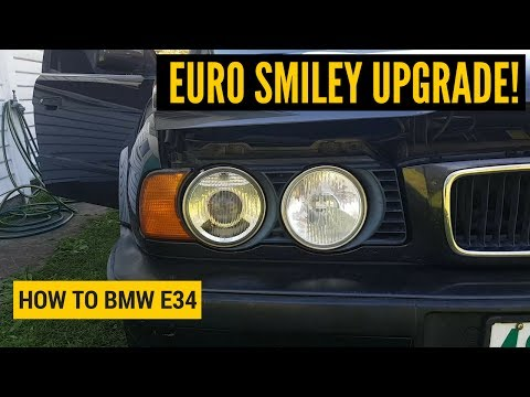 How to Upgrade/Replace your Headlights with Euro Smileys - BMW E34