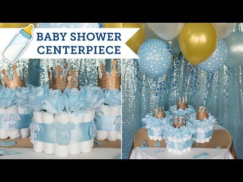 Diaper Cake Centerpieces for a Baby Shower | BalsaCircle.com