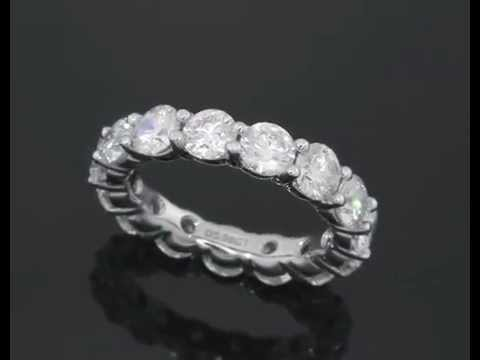 5 Carat Diamond Eternity Ring Band in 18 KT White Gold Setting