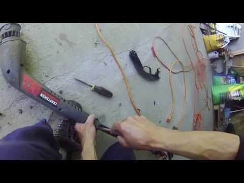how to repair electric weed trimmer - craftsman 15 inches 4.6 amps - diy