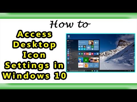 Desktop Icon Settings of Windows 10  Where it Locate 