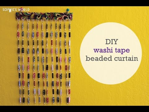 How to Make a Washi Tape Beaded Curtain | Sophie's World