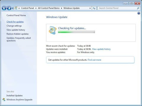 Windows 7 Checking For Updates Fix