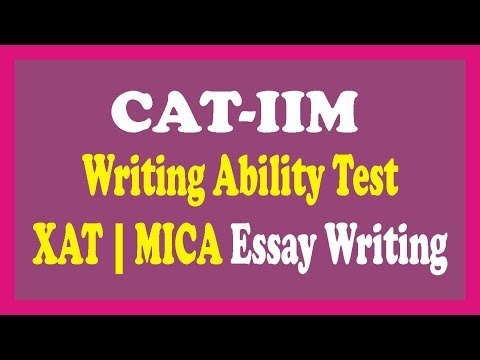 Essay Writing Tips- Writing Ability Test (CAT-WAT)