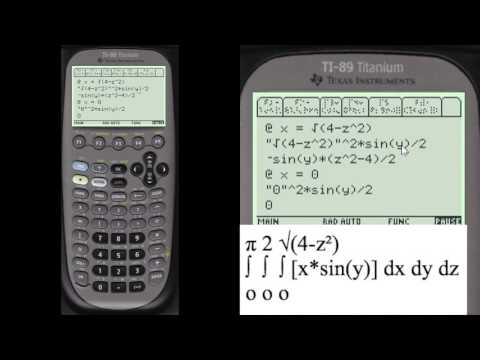 Triple Integral: Work Shown on TI89 | Every Step Calculus