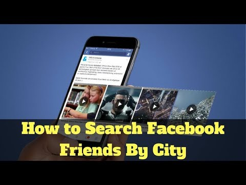 How to search Facebook friends by City, Country, University