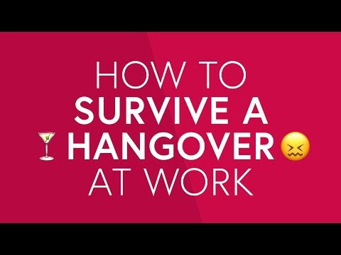How To Survive A Hangover At Work | The Zoe Report By Rachel Zoe