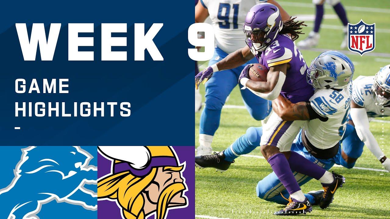 Lions vs. Vikings Week 9 Highlights | NFL 2020