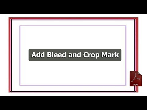 PDF Tutorial- How to Add Bleed and Crop Mark in adobe acrobat pro