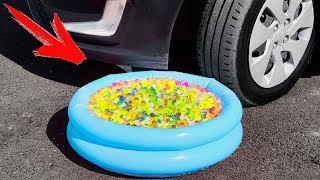 Experiment: Car Vs Balloons Pool