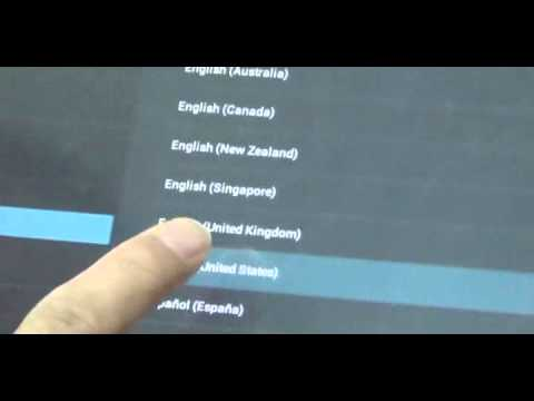 How to change language from chinese to english suit for all android 4.0 tablet