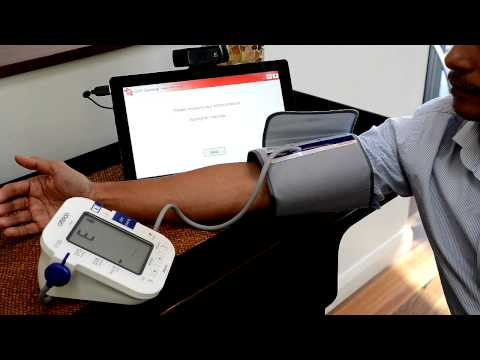 Telehealth tutorial: How to use your Omron blood pressure monitor