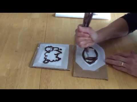 Cake Decorating Basics: Chocolate Pattern Transfers