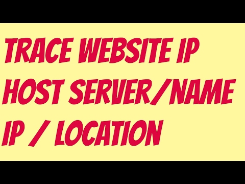 How To Trace Website's IP's Host Server Name OR Find Site's Host IP