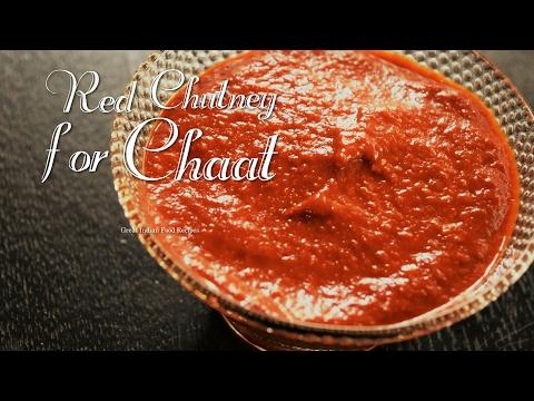 Red chutney for chaat | Theeka chutney chaat | Chilli garlic chutney | Spicy lehsun mirchi chutney