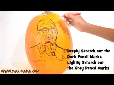 How to Carve a Photo Realistic Pumpkin - Cooking with Zac - Carve a Judge
