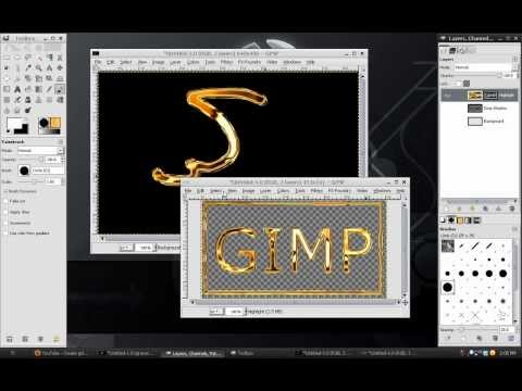 Gimp Tutorial: Gold Logo